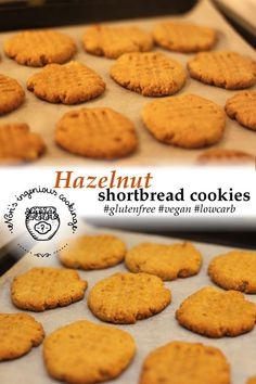 Hazelnut shortbread cookies: sugarfree, gluten free, vegan recipe