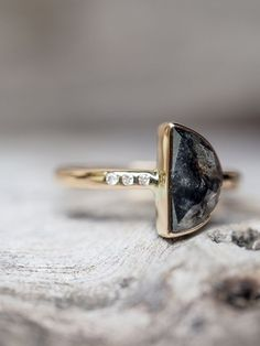 Half Moon Diamond Ring - Gardens of the Sun Jewelry The folds that harbor her perfume, the dew that she makes from her sweat.