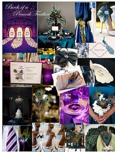 Peacock Feathers Party Inspiration Board