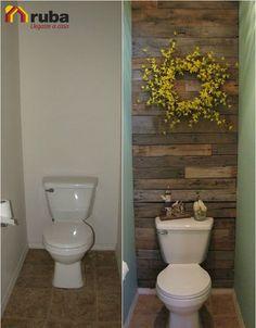 Si tu baño es demasiado pequeño no hagas que también sea aburrido, saca el mayor provecho de tu #HabitaciónRuba Encuentra más ideas para estos diminutos espacios en: http://decoycina.blogspot.mx/2013/12/maxi-ideas-para-mini-banos-banos.html