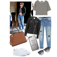 Gigi Hadid on Polyvore featuring polyvore, fashion, style, TIBI, ONLY, adidas Originals, Michael Kors, Kate Spade and Ray-Ban