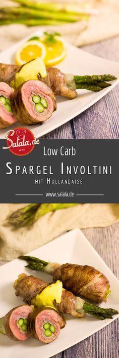Spargel Involtini - grüne Spargelrouladen Endlich wieder Spargelsaisaon Knackiger, in saftige Kalbsschnitzel eingerollter Spargel. Was kann es schöneres geben? Richtig! Spargel mit Hollandaise! Spargel Involtini - by salala.de - Grüner Spargel Rouladen mit Kalbfleisch und Salbei Rezept Low Carb italienisch
