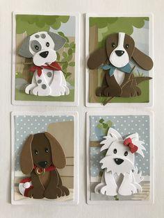Punch Art Cards - Her Crochet Paper Punch Art, Punch Art Cards, Felt Crafts, Paper Crafts, Marianne Design Cards, Atc Cards, Animal Cards, Kids Cards, Paper Artwork