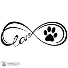 Infinity Paw Decal - Top Pet Gifts
