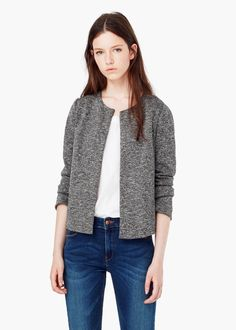 $39 Flecked cotton-blend jacket - Jackets for Women | MANGO