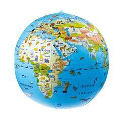 Globe gonflable animaux - Pour découvrir les animaux qui peuplent la planète - 14,95 €