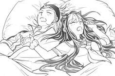 Souda Kazuichi and Ibuki Mioda.