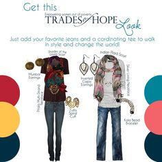 Trades of Hope look, how do you wear the end of poverty?  #fairtrade #endpoverty #empoweringwomen