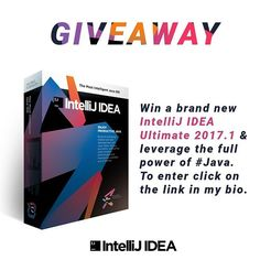#Giveaway - Win a brand new Intellij IDEA Ultimate 2017.1 and leverage the full power of #javaprogramming. To enter, click on the link in my bio. #learntocode #cleancode #computerscience #programming #developer #coding #programmer