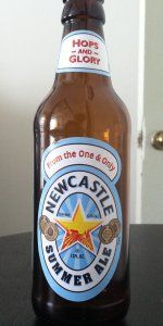 Newcastle Summer Ale goes down quite well!