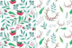 Natural watercolor by Eisfrei on @creativemarket
