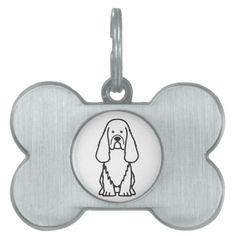 Sussex Spaniel Dog Cartoon Pet Tags