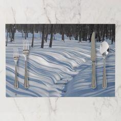 Snow Shadows Paper Placemat - Xmas ChristmasEve Christmas Eve Christmas merry xmas family kids gifts holidays Santa