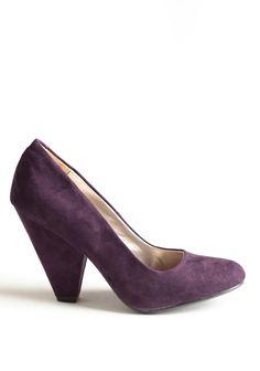 Blissful Season Pumps In Purple | Modern Vintage Shoes