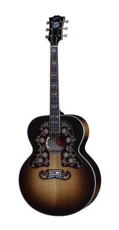 GIBSON SJ-200 2016 CUSTOM BOB DYLAN VINTAGE SUNBURST - Woodbrass N°1 Français Gibson Acoustic, Gibson Guitars, Acoustic Guitars, Bass Ukulele, Music Genius, Stylist Tattoos, Guitar Pics, Home Studio Music, Beautiful Guitars