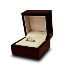 Wood Wedding Ring Box with Options for Personalized Engraving and Lighting