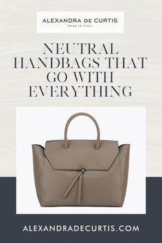 Are you looking for a versatile handbag colour that isn't black? Before you go and buy yet another black bag, keep in mind black is not the only versatile handbag colour you can own. Fango is an easy neutral and one of our bestselling colours because it's just as versatile. It's not quite in the brown family but not in the grey either. Falling in-between the two, fango is both functional and stylish. Subscribe and get 10% off your first order: www.alexandradecurtis.com/join Tan Leather Handbags, Italian Leather Handbags, Designer Leather Handbags, Brown Leather Handbags, Leather Pouch, How To Make Handbags, Purses And Handbags, Best Work Bag, Italian Street