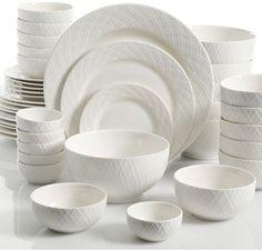 Gibson White Elements Lexington Dinnerware Set, Service for 6 White Dinnerware, Dinnerware Sets, Gibson Dinnerware, Kitchenware, Tableware, Dish Sets, Kitchen Essentials, Teller, White Porcelain