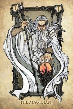 Aventuras Roleras: Personajes de El Señor de los Anillos como Cartas del Tarot