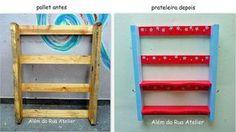 Como reciclar pallet e transformá-lo em prateleira by ALÉM DA RUA ATELIER/Veronica Kraemer, via Flickr