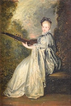 Woman Playing Lute by Jean-Antoine Watteau on artnet
