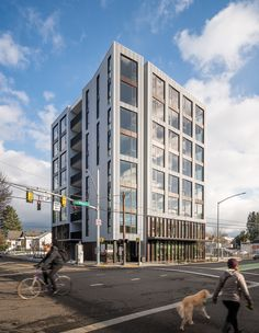 propels Portland into the vanguard of climate-friendly, green building. Pioneering architect Ben Kaiser has brought innovation, elegance and sustainability together in a single building Building Foundation, Construction Contractors, Timber Buildings, Wood Architecture, Facade Design, Sustainable Development, Retail Space, Built Environment, Green Building