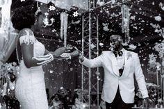 Amanda & Sydney's Outdoor White Wedding in Ghana is GOALS Sydney White, White Tux, Ghana Wedding, Hair Fixing, African Print Fashion, Wedding Bridesmaid Dresses, Real Weddings, Wedding Ceremony, Amanda