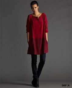 Eileen Fisher ~ Love the big, simple tunic tops! I need something like this!
