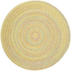 Meridian Rugmakers Sabalgarh Yellow Indoor/Outdoor Area Rug Rug Size: Round 8'