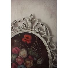 Oval BaROQUE Rococo Frame. French Farmhouse Shabby Chic White. Italian... (£18) ❤ liked on Polyvore featuring home, home decor, wall art, glass wall art, painted wall art, glass home decor, white framed wall art and white wall art