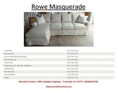 Rowe Masquerade Slipcover Sectional.  You Choose the pieces to fit your room.  You Choose the Fabric