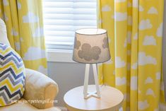 Fun Cloud Decor in a Gray and Yellow Nursery - Project Nursery