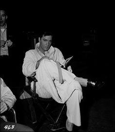 Elvis often read between scenes on movie sets.