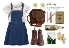 """""""Arya"""" by green-wild ❤ liked on Polyvore featuring H&M, Topshop, Dr. Martens, Jas M.B., Crate and Barrel and Bananagrams"""