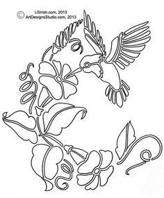 free hummingbird pattern by Lora Irish