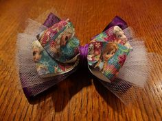 Frozen Flower Bow by SamanthasDuds on Etsy