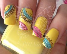 Colorful Nail Art Nail water decals transfers