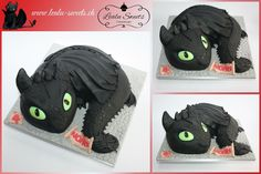 Mini Drachenzähmen- 3D Torte /  Mini Dragons Toothless - 3D Cake By Lealu-Sweets