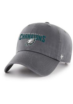 47 Philadelphia Eagles Mens Grey 2018 Super Bowl Champions Clean Up Adjustable  Hat Eagles Super 556c3d0d1