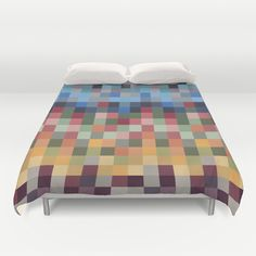 Pixel Duvet Cover by marthag College Dorm List, Duvet Covers, Bed, Furniture, Home Decor, Decoration Home, Stream Bed, Room Decor, Home Furnishings
