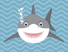 This adorable and whimsical baby shark is an illustration that I designed digitally. This print will look amazing in a nursery, childs