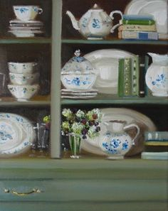 Vintage Books And China ~ Janet Hill