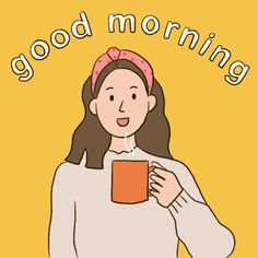 Cartoon Girl Drawing, Girl Cartoon, Cute Good Morning Gif, Hi Gif, Coffee Gif, Cute Love Gif, Neon Wallpaper, Beautiful Gif, Cute Cartoon Wallpapers