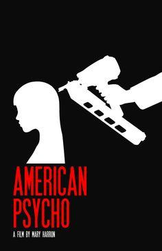 American Psycho (2001) ~ Minimal Movie Poster by Caleb Kerr #amusementphile