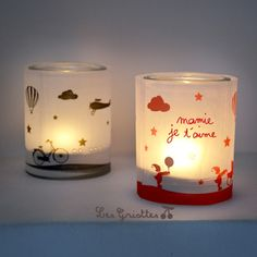 photophore 5 Cadeau Grand Parents, Christmas Lanterns, Art N Craft, Diy Photo, Diy For Kids, Gift Tags, Diy And Crafts, Projects To Try, Candles
