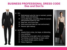 Business Professional Dress Code Dos and Don'ts