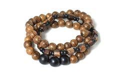 Siamese wood stacking bracelet. $24.00, via Etsy.