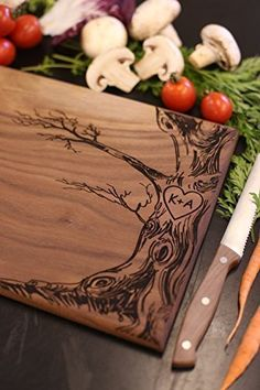 Personalized Cutting Board - Engraved with Love Tree by Steven & Rae Designs
