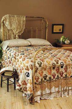 Flower basket quilt (1) From: Blackbird Designs, please visit