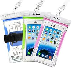Waterproof Cellphone Dry Bag 3 Pack Ace Teah Waterproof Case Cover Bag with Comb and Armband or iPhone SE 6 Plus Samsung Galaxy Edge Note 5 and Devices Up to 6 Diagonal Green Blue Pink * See this great product. Camera Accessories, Cell Phone Accessories, Galaxy S8, Samsung Galaxy, Waterproof Phone Case, Best Amazon Products, All Smartphones, Iphone Se, Ipod Touch
